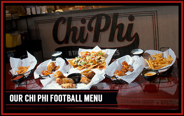Chi Phi Football Menu Chicken Wings Buffalo Wings Downtown